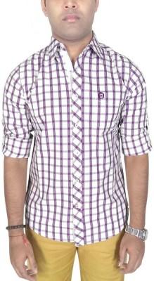 Southbay Men's Checkered Formal Purple Shirt