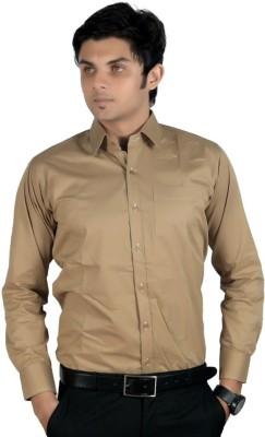 Vkg Men's Solid Formal Grey Shirt