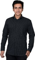 Mensfield Formal Shirts (Men's) - Mensfield Men's Printed Formal Black Shirt