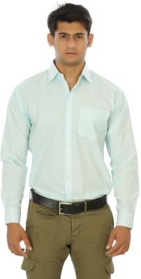 Venga Men's Solid Formal Light Green Shirt