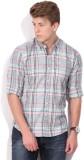 Lee Men's Checkered Casual Blue Shirt
