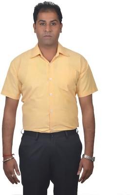 Gagan Enterprises Men's Solid Formal Yellow Shirt
