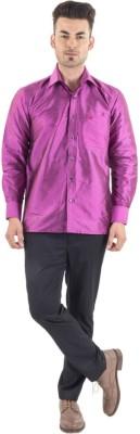 Scot Wilson Men's Solid Casual Pink Shirt
