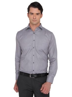Donear NXG Men's Solid Formal Black Shirt