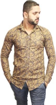Assashion Men's Printed Casual Brown Shirt