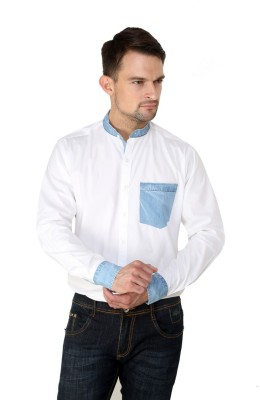 Lemon & Vodka Men's Solid Formal White Shirt