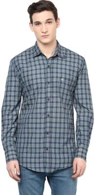 Urbano Fashion Men's Checkered Casual Green, Blue Shirt