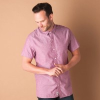 Timberland Formal Shirts (Men's) - Timberland Men's Solid Formal Red Shirt