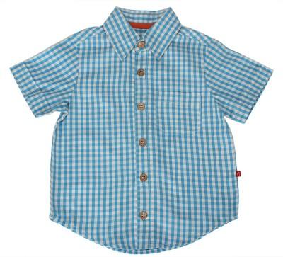 Nino Bambino Boy's Checkered Casual Blue Shirt