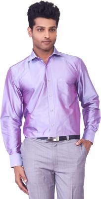 Mark Anderson Men's Solid Casual Purple Shirt
