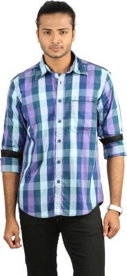 Cross Creek Men's Checkered Casual Multicolor Shirt