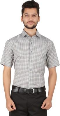 Stylo Shirt Men's Checkered Casual Grey Shirt