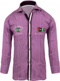 Jazzup Boys Checkered Casual Purple, Whi...