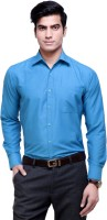 The Greek Formal Shirts (Men's) - The GreeK Men's Solid Formal Blue Shirt