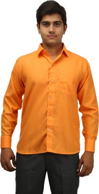 aaral Men's Solid Casual Gold Shirt