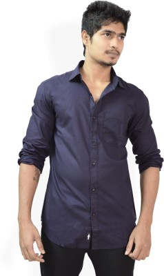Hueman Men's Solid Casual Purple Shirt