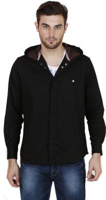 Chalk Factory Men's Solid Casual Black Shirt
