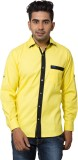 Nauhwar Men's Solid Casual Yellow, Black...