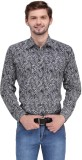 Ausy Men's Printed Casual Black, White S...