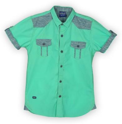 Lilliput Boy,s Solid Casual Green Shirt