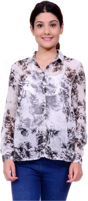 Lamora Women's Floral Print Casual Multicolor Shirt