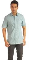 Sterling Formal Shirts (Men's) - Sterling Men's Checkered Formal Green Shirt