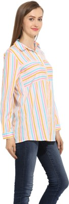 Label VR Women,s Striped Casual Multicolor Shirt