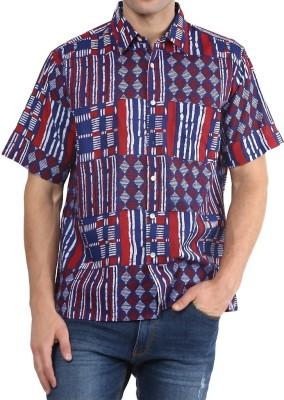 Vivid India Men's Graphic Print Casual Multicolor Shirt