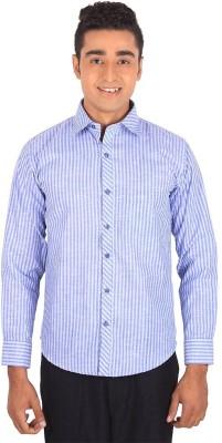 Henry Spark Men's Striped Formal Blue Shirt