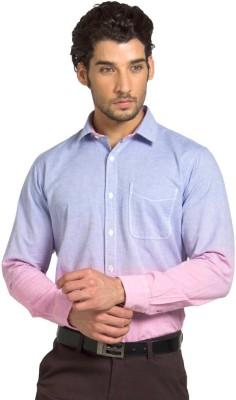 Klub Fox Men's Solid Casual Pink Shirt
