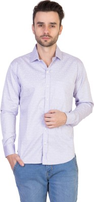 Threadikshion Men's Floral Print Casual Purple Shirt