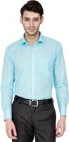 Dennison Formal Shirts (Men's) - Dennison Men's Solid Formal Linen Light Blue Shirt