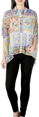 Isadora Women's Floral Print Casual Multicolor Shirt