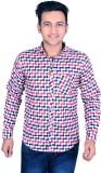 Kalpatru Men's Checkered Formal Multicol...