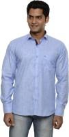 Ach Fashion Formal Shirts (Men's) - Ach Fashion Men's Self Design Formal Blue Shirt