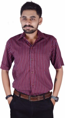 Try Me Men's Solid Formal Red Shirt
