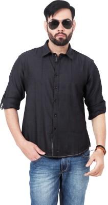 Urban Republic Men's Solid Casual Black Shirt