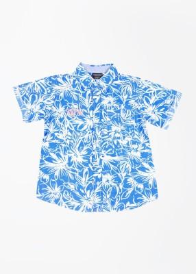 Cherokee Kids Boy's Printed Casual White, Blue Shirt