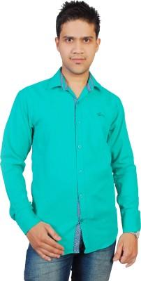 Gayo Fashion Men's Solid Casual Green Shirt