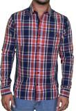 Ficuster Men's Checkered Casual Multicol...