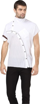 I Know Men's Striped Party White Shirt