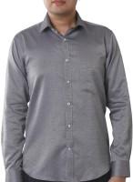 Valessi Formal Shirts (Men's) - Valessi Men's Printed Formal Grey Shirt