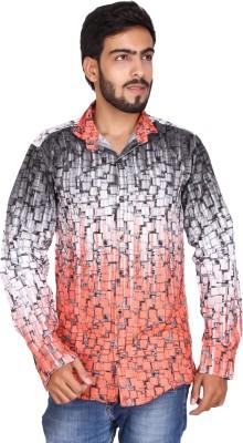JG FORCEMAN Men's Printed Casual Multicolor Shirt