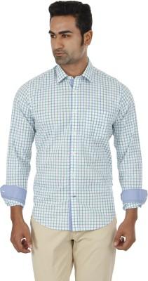 London Fog Men,s Checkered Casual Green Shirt