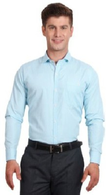Sarathi Men's Solid Casual Blue Shirt