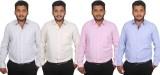 Maharaja Men's Striped Formal Blue, Pink...