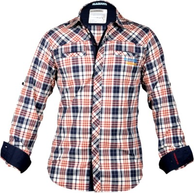 Blacksoul Men's Checkered Casual Red Shirt