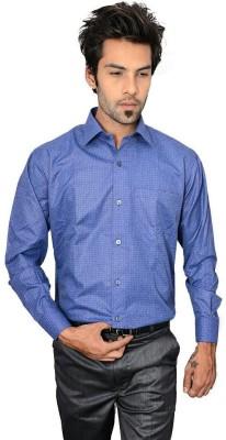Culture Plus Men's Solid Formal Blue, Blue Shirt