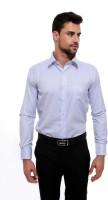 Jermyn Crest Formal Shirts (Men's) - Jermyn Crest Men's Striped Formal Light Blue Shirt