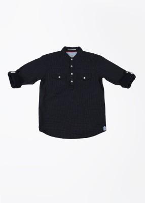 Pepe Jeans Boy's Printed Casual Dark Blue Shirt